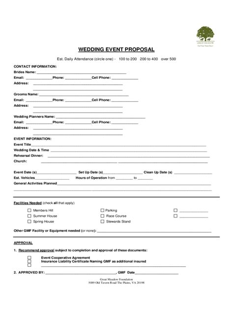 event proposal template fillable printable
