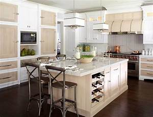 wine rack in kitchen island contemporary kitchen With what kind of paint to use on kitchen cabinets for wine barrel wall art