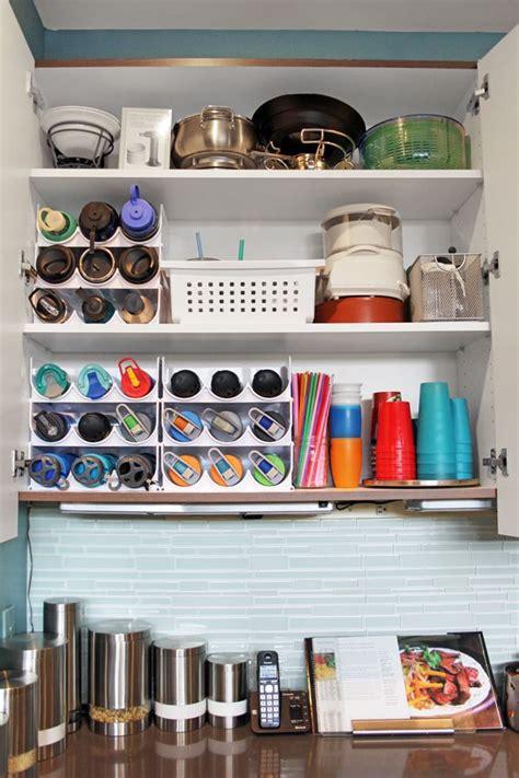 water bottle storage kitchen cabinet organization water