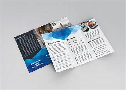 Brochure Fold Tri Template Elegant Thor