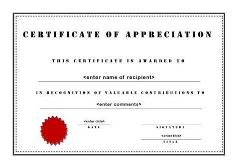 certificate  appreciation template   task