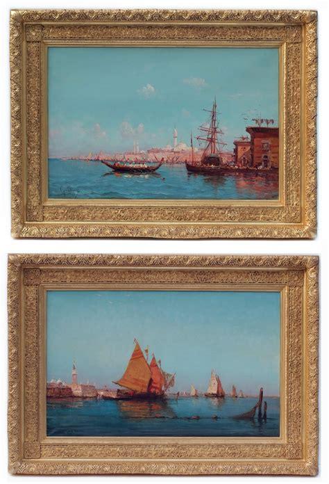 emile godchaux marines  pair paintings  century