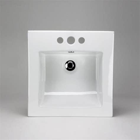 square drop in bathroom sink acri tec neptune ceramic square drop in sink basin the