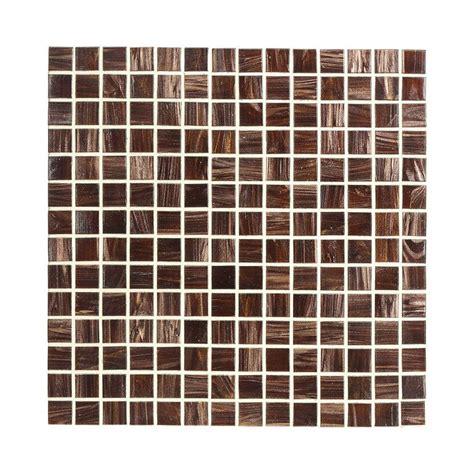 home depot mosaic tile jeffrey court sasparilla 12 in x 12 in x 4 mm glass