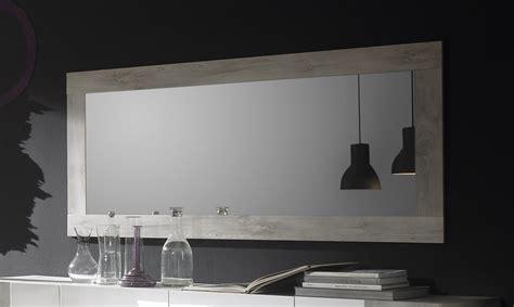 le de salon a poser miroir mural couleur pin blanc contemporain marissa