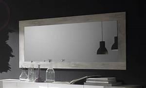 Miroir Rectangulaire Mural : miroir mural couleur pin blanc contemporain marissa ~ Teatrodelosmanantiales.com Idées de Décoration