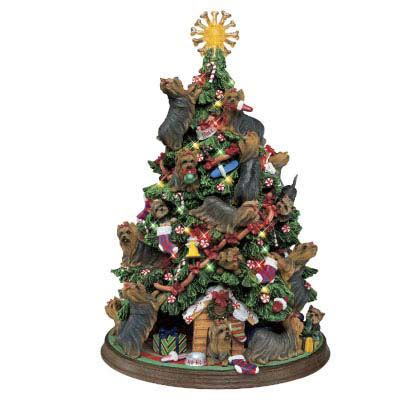 yorkie christmas tree  danbury mint