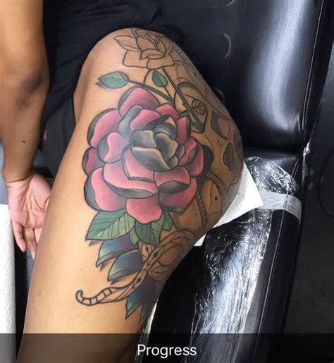 thigh butt tattoo tattoospiercings