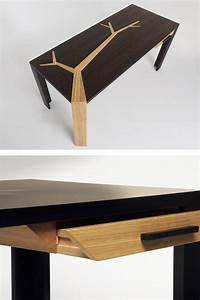 Wooden Writing Desk With Drawers ANGKOR By Studio Olivier
