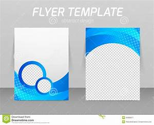 Flyer Back And Front Design Template Stock Vector Image