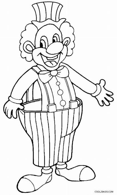 Clown Coloring Pages Evil Happy Drawing Creepy