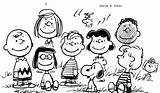 Peanuts Coloring Characters Pages Gang Snoopy Drawing Drawings Charlie Printable Getcolorings Getdrawings Templates Template Sketch sketch template