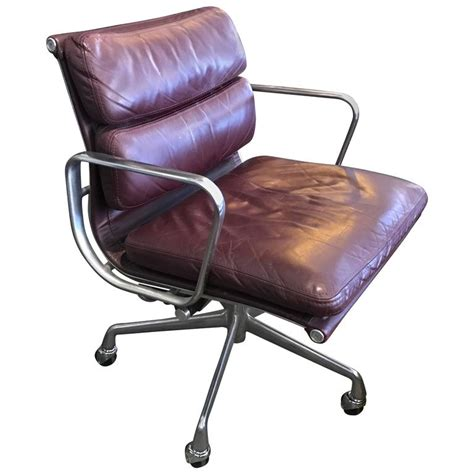 eames herman miller soft pad leather office chair at 1stdibs