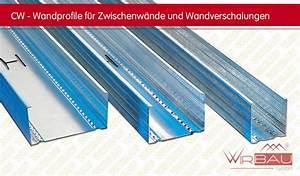 Steinwolle Oder Glaswolle : cw profil trockenbauprofile f r gipskarton st nderw nde ~ Michelbontemps.com Haus und Dekorationen