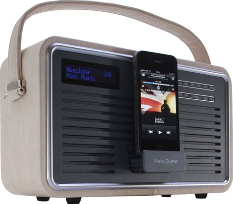 fm radio iphone view quest retro portable dab fm radio with ipod iphone