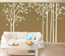 forest wall decals tree and birds wall mural nursery wall