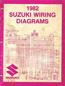 Used 1982 Suzuki Atv And Motorcycle Wiring Diagram And Troubleshooting Book