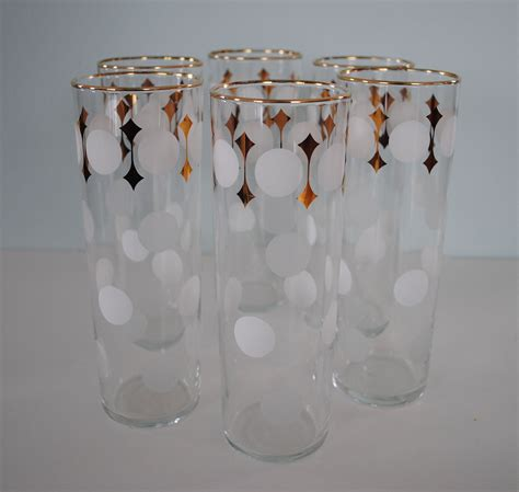 1950s set of 6 libbey vintage libbey glass tumblers set of 6
