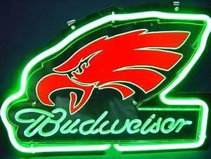 Budweiser Green Philadelphia Eagles 3D Neon Light Sign 12