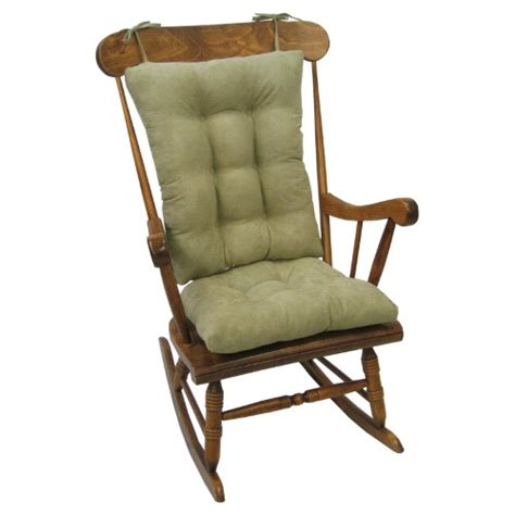 klear vu jumbo gripper twillo rocking chair seat and back