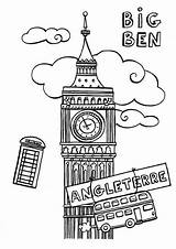 Ben Coloring London Simple Pages Coloriage Sketches Londres Booth Phone Colouring Lh6 Ggpht Outline Landmarks Grand Britain Kingdom United Sketch sketch template