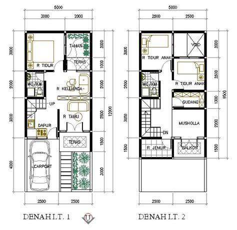 Minimalist House Plan 5x95 Meter 2 Floor  Daniel 1