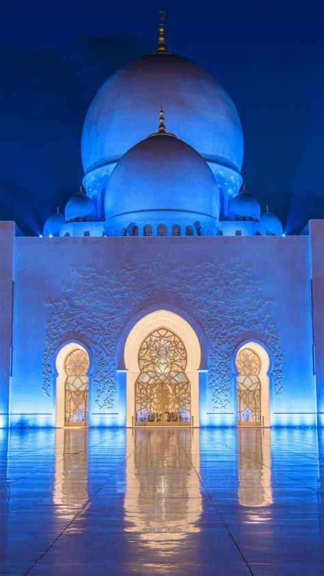 wallpaper sheikh zayed mosque abu dhabi night