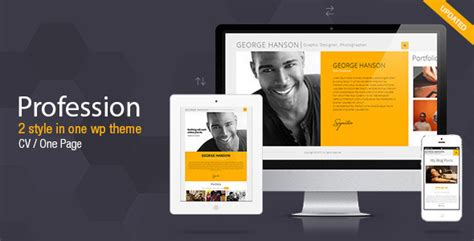 profession one page cv resume theme by pixflow themeforest