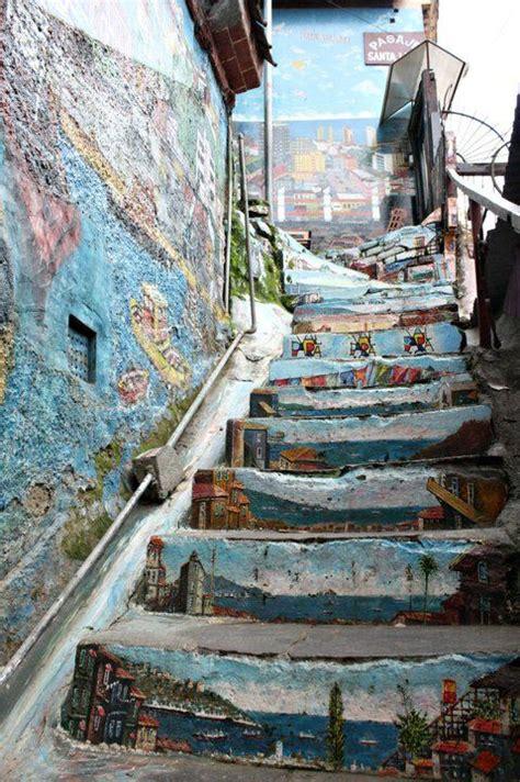 escaleras  fueron decoradas  arte alrededor del mundo