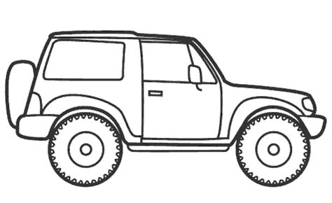 Jeep Coloring Pages Eskayalitim