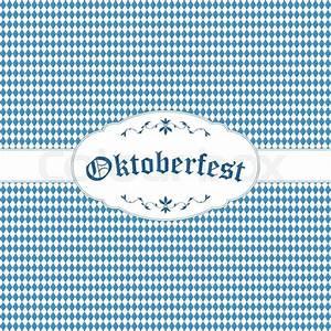 Oktoberfest Blau Weiß Muster Brezel : oktoberfest background with blue white checkered pattern banner and text oktoberfest stock ~ Watch28wear.com Haus und Dekorationen