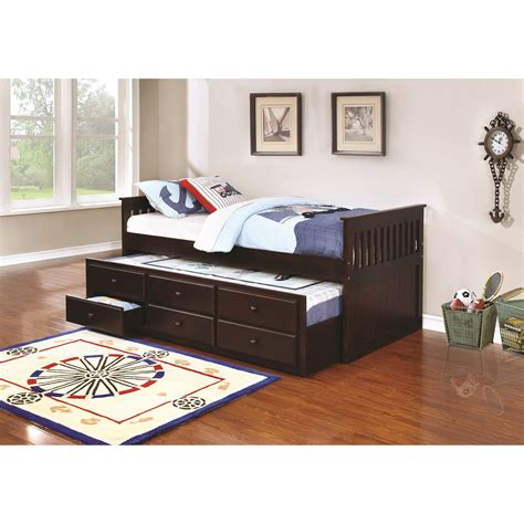 trundle beds with storage coaster la salle 300100 captain s bed with trundle 17585