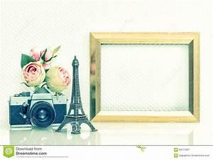 Les Fleurs Paris : appareil photo rose de vintage de fleurs de cadre de ~ Voncanada.com Idées de Décoration