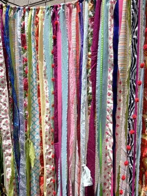 Fabric For Curtains Diy by Boho Fabric Garland Streamers Curtain