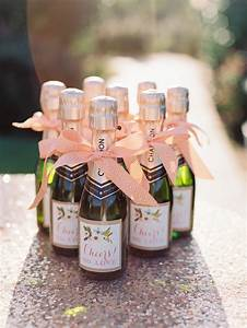chic charming peach wedding ideas every last detail With cheap mini wine bottles wedding favors