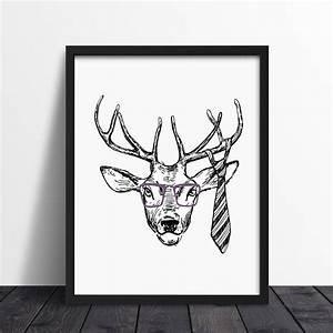 Decoracion Nordica - Cuadro Hipster Deer