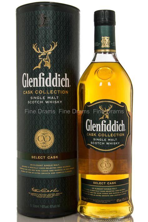glenfiddich select cask  liter scotch single malt whisky