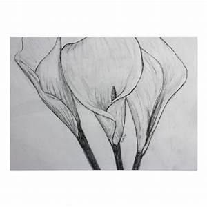 Calla Lilies Pencil Sketch Drawing Art Print | Zazzle