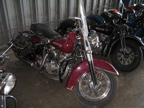 original paintantique and vintage harley davidsons 1948 1957 burgendy harley davidson motorcycles