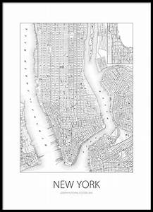 New York Poster : poster poster with map of new york prints online ~ Orissabook.com Haus und Dekorationen