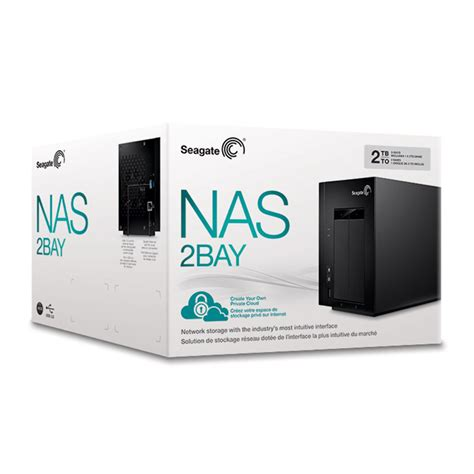 seagate  bay network attached storage nas tb