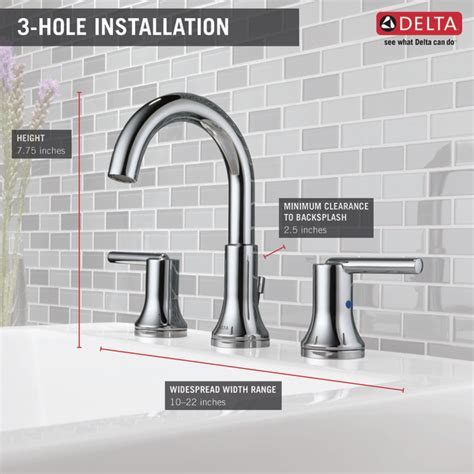 delta 3559 mpu trinsic widespread bathroom faucet 3559 mpu dst two handle widespread lavatory faucet