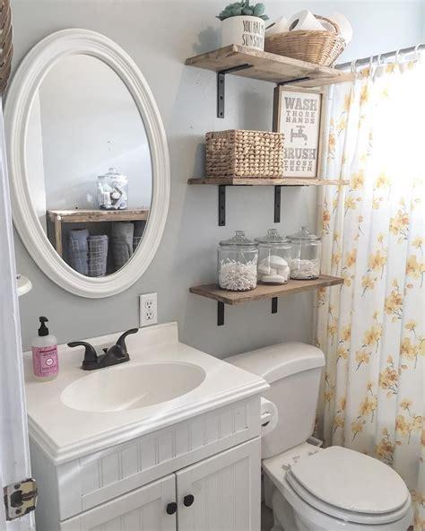 bathroom floating shelves design  save room
