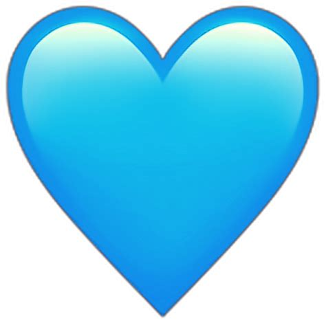 lightblue light blue heart emoji ios iphone hearts emoj