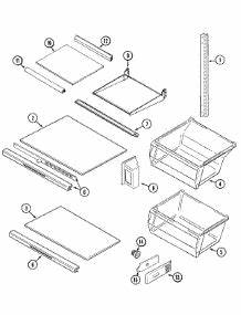 Parts For Magic Chef Csb2323arw Refrigerator
