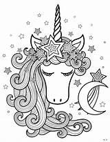 Unicorn Coloring Sheets Printable Mermaid Moon Head Skip Imwithphil Magical Colouring Unicorns Adults Elaborate Cake Animals Lou Easy Valentine Horse sketch template