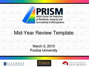 ppt mid year review template march 2 2010 purdue With mid year review template