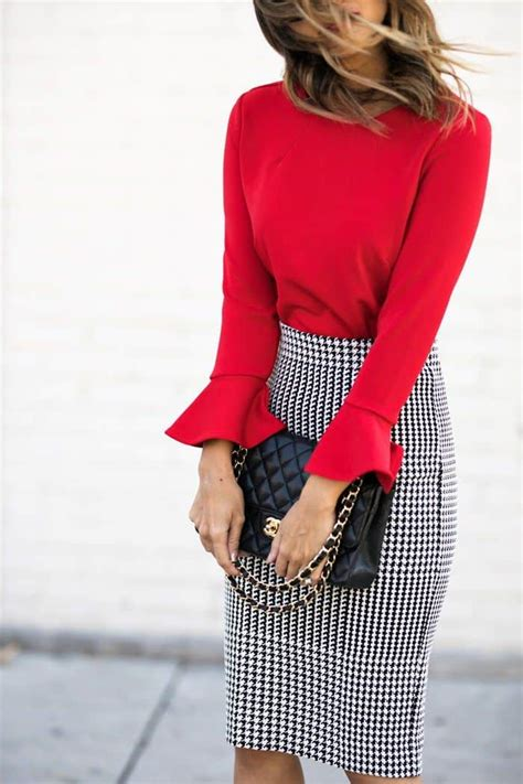15 stylish ways to wear red at the office - cute dresses outfits