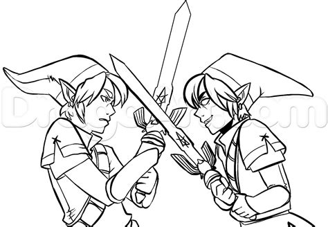 link coloring pages link coloring how to draw vs legend of step by