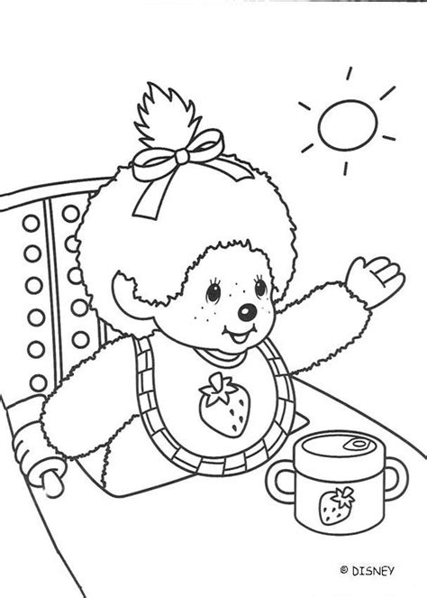 Monchichi Kleurplaat by Monchhichi Baby Coloring Pages Hellokids